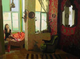 190 x 140cm oil on canvas by ilkekutlay
