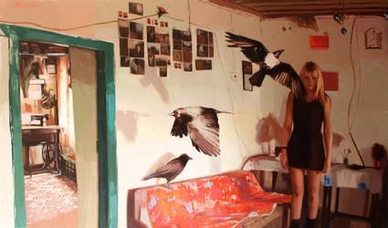 240x140 cm oil on canvas by ilkekutlay