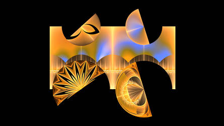Orange Tree Cat - Raw Fractal by CatSpaceDesign