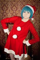 Sulky little Santa Sayaka-chan! by Blairchik