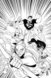 Young Justice issue 0 cover by Miketron2000