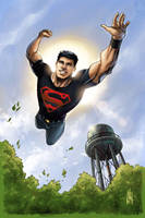 Superboy - NOW IN COLOR by Miketron2000