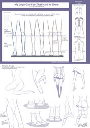 Legs drawing tutorial by darkn2ght