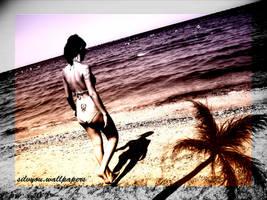 on the beach by vander90