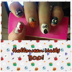 Halloween Nails 2014 by wyldflower