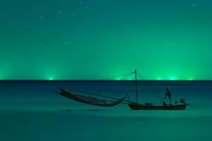 Night Fisherman by kohchangphotography