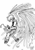Roxas Angel by TaintedTamer