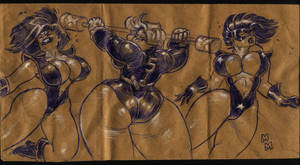 Paper Bag Fight by MarkMoore