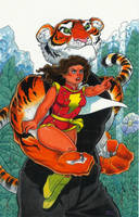 Mary Marvel and Mr. Tawny by MarkMoore