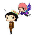 Request: Dragunov and Alisa chibi by IrisSeptim