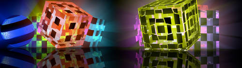 Cubes with Volumetric Light and Transparent Cubes by SitiSchu