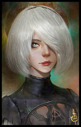 NieR: Automata - 2b by LuarDirge