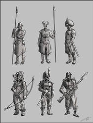 Sketch Characters 02 by omerayar
