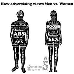 How advertising views Men vs. Women by Eve-Rebil