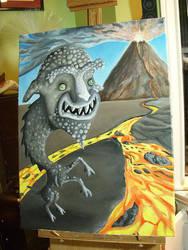 Volcanic Goat by JenieVonTeese