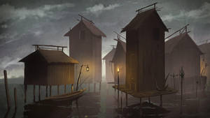 Lake Village by E-sketches
