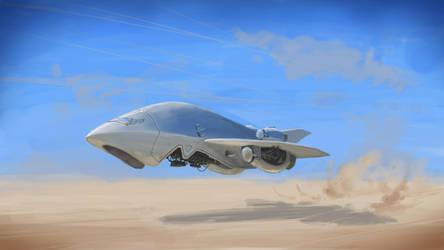 Spaceship take 2 by E-sketches