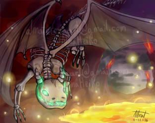 Dragon squeleton by AlmaTeresa
