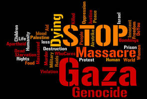 Stop Gaza Genocide by FireflyWayfarer