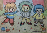 Autumn Chibi Boys by dengekipororo