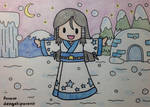 Chibi Cute Snow Lady by dengekipororo
