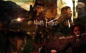 HP Deathly Hallows Wallpaper by suicidebyinsecticide