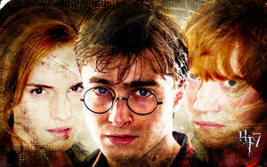 Harry Potter Trio DH by suicidebyinsecticide