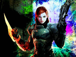 ME3: Commander Jane Shepard Wallpaper by suicidebyinsecticide