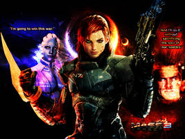 Mass Effect: Paragon Versus Renegade by suicidebyinsecticide