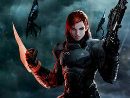 Shepard-Commander ME3 Wallpaper by suicidebyinsecticide