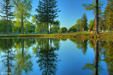 cemetery reflection HDR by ClanJohnstone