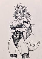 The Queen Bowsette! by Zenox-furry-man