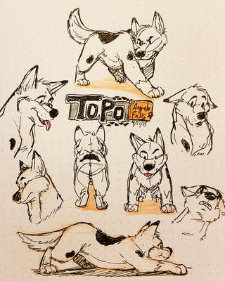 Sketchdump of Topo by LoneWolf510