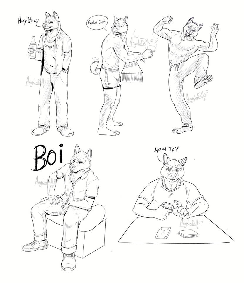 Some poses of Maze by LoneWolf510