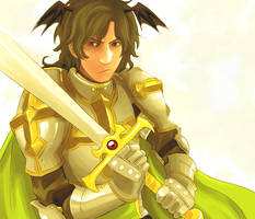 greeen lord knight by licchan