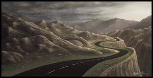 Mountain Road Concept Sketch 1 by theuni