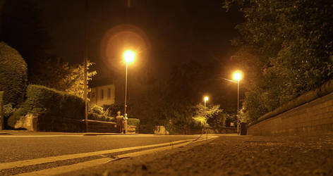Street at Night by treebor