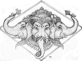 Three Faces of Ganapati by DJNebulous