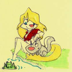 Minktober Fun at Skunk Pond Doodle by Leowulf067