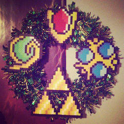 Legend of Zelda perler wreath by TehCK