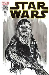 Star Wars sketch cover Chewbacca by CartoonCaveman