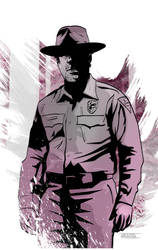 Chief Hopper from Stranger Things by CartoonCaveman