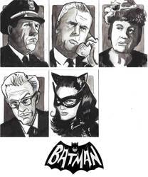 Batman 66' Sketchcard Commissions by CartoonCaveman