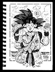 Goku and Gohan by RADMANRB