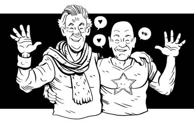Ian Mckellen and Patrick Stewart by RADMANRB