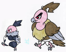 Walky Vullaby and Mandibuzz by Porcubird