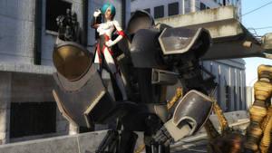 Robo-Pilot Victorious by CrownDigitalArt