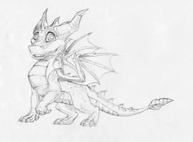 Spyro the Dragon by vonPipkin