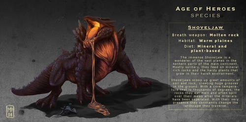 AoH Species: Shoveljaw by vonPipkin