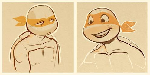 Mikey Sketches by PogoJosie